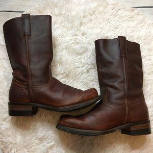 Frye Men's Vintage Brown Pull Up Campus Boots